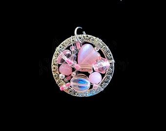 Pink Heart - Ring Window Pendant