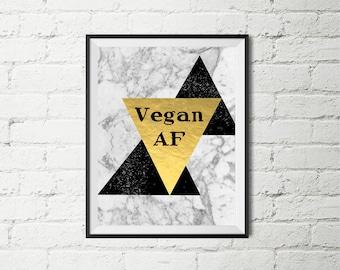 Vegan quote wall art 8 by 10 print at home digital file