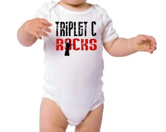 Triplet C Rocks onesie one piece infants