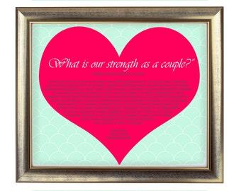 Tarot Reading Couples, custom wall art, custom tarot, printable art, word art, quote art, Love sign wall hanging, heart, valentines day gift