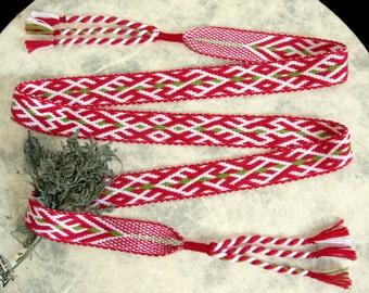 "Handmade woven belt ""wormwood"""