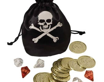 Pirate Coin &Pouch Set,Birthday party,Pirate Party