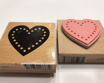 large heart rubber stamp, 50 mm (BB4)