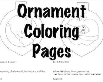 Advent Jesse Tree Coloring Pages- SALE