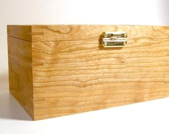 Handmade Wood Crochet Hook Box Cherry Wood