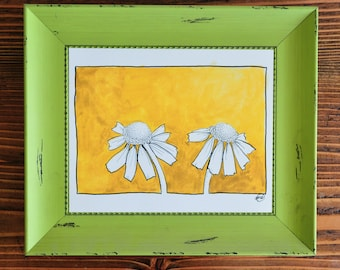 Yellow Daisies Watercolor Print-Greeting Card- Wall Art-Birthday-Easter-Spring-Sympathy-Mothers Day-Summer-Thank you-Frame-able art print