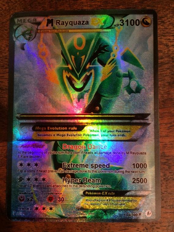 M Rayquaza ex Mega full art Shiny orica Pokemon trading card