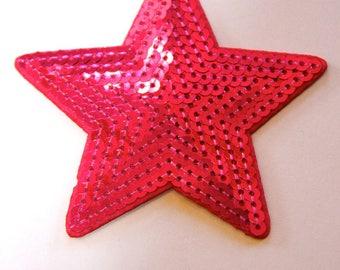 STAR SPANGLE FUCHSIA FUSIBLE APPLIQUE