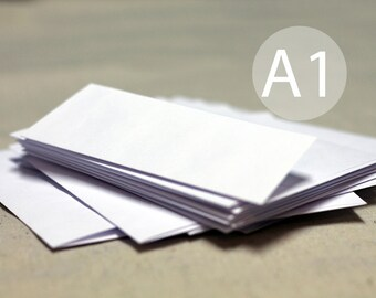 "25 3x5 White Envelopes - A1 / 4-Bar White RSVP Envelopes (true size 3 5/8"" x 5 1/8"")"
