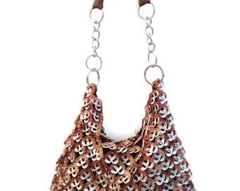 Crochet Pattern - INSTANT DOWNLOAD PDF Pattern Hobo - Pop Tab Crochet Shoulder Bag, Handbag or Shoulder Purse Tutorial
