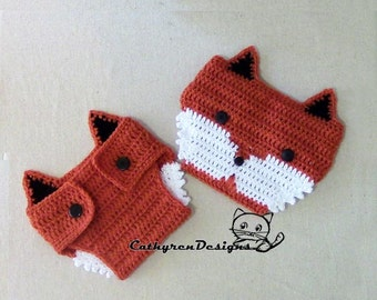 Baby Fox Diaper Cover- INSTANT DOWNLOAD Crochet Pattern