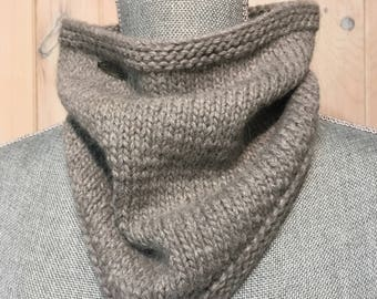 Hand Knit 100% Baby Alpaca Winter Cowl