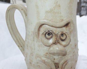 Muggins Style Funny Face Ceramic Mug