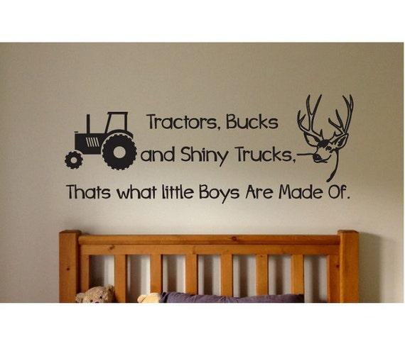 Tractors Bucks And Trucks Wall Decal Sticker Large Farm Kids