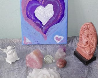 CROWN CHAKRA Heart Painting for Connecting to the Divine & Your Soul Guides