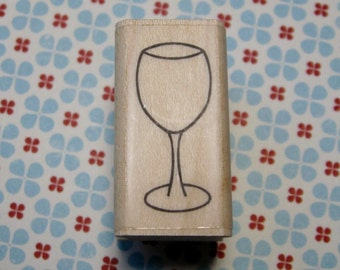 Wine Glass - A Muse Rubber Stamp - Cards, Scrapbooks, Journals, Planner - Drinks, Drinking