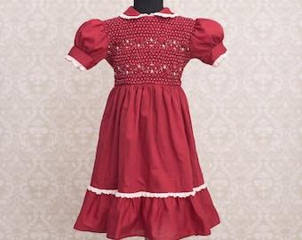 Polly Flinders Girls Hand Smocked Dress