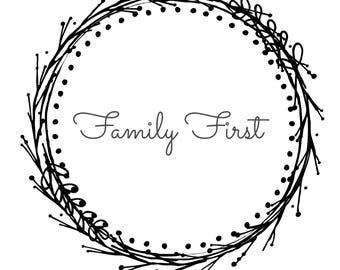 Family First printable art