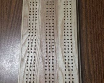 Solid Wood Handcrafted Cribbage Board