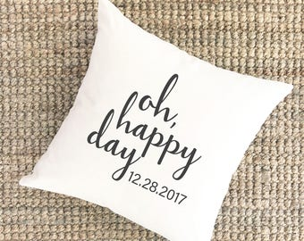 Wedding Anniversary Pillow Cover | Bridal Shower Gift | Unique Wedding Gift for Couples Pillow |  Engagement Gift for Bride Gift for Wife