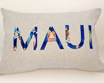 MAUI Applique Pillow - Hawaii