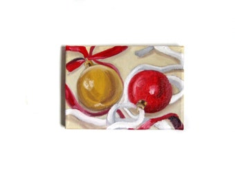 Christmas Painting -- Christmas Art -- Christmas Decor -- Holiday Painting -- Holiday Art -- Holiday Decor -- Oil Painting -- Original Art