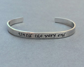 Until the Very End / Potter Gift / Deathly Hallows / Literary Git / Literary Bracelet / Nerd Gift / Bookworm / Book Lover Gift / Bookish