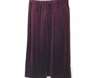 Vintage Burgundy/Deep purple skirt
