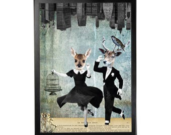Art print poster collage DADA #1 in A3 (29, 7x42cm)