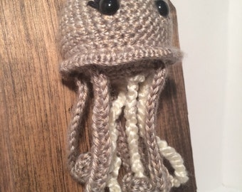 Amigurumi Crochet Taxidermy - Large Grey Jellyfish