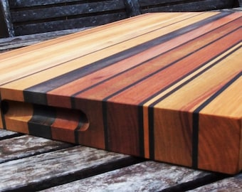 Multi-hardwood lifetime cuttingboard (Line)