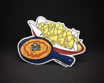 Chips And Queso, the vinyl sticker