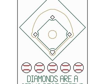 Diamonds Are a Girl's Best Friend - Original Cross Stitch Chart
