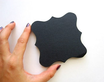 Square Bracket Cards, 18 Square Bracket cards (3.5 x 3.5 inches) Textured Cardstock, Choose your color!  A250