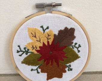 Fall Floral Hand-Embroidery