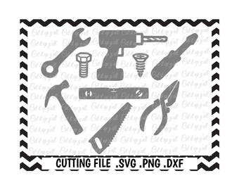 Tools Svg-Dxf-Fcm-Png Cutting Files For Silhouette Cameo/ Cricut, SVG Download.