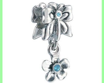 Pearl European bail N316 flower for bracelet charms