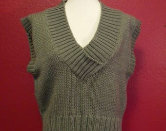 Vintage Chunky Gray Sleveless Sweater