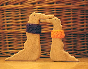 Crocodiles in Love   Wooden toy  