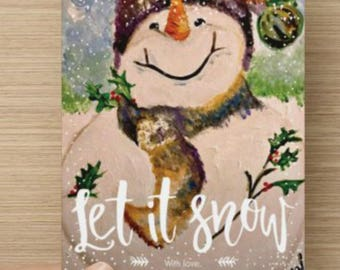 Carol the Snowman Holiday Card- Various