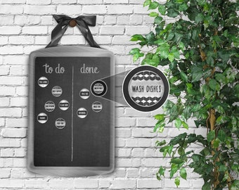 Chore Board + Magnets – Magnetic Chore Chart, Magnetic Chore Board, Magnetic Board, Command Center, Family Chores, Chore Tracker