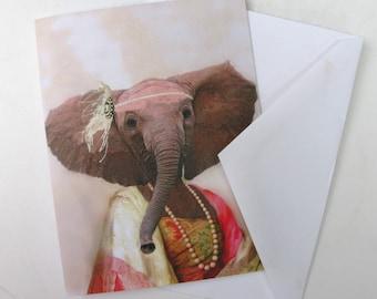 Eleanor the Elegant Elephant - Note Card