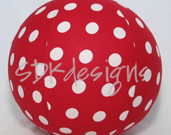 Balloon Ball - Large Red polka dots fabric - Perfect Birthday gift - as seen with Michelle Obama on Parenting.com