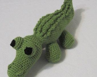 Friendly Alligator, Amigurumi Alligator, Stuffed Animal, Crocheted Alligator