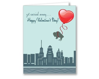 Buffalo Valentine's Day Card
