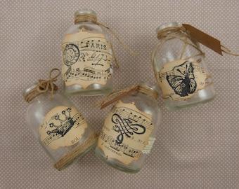 "Set of four vials ""vintage"""