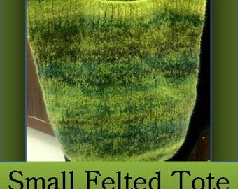 Pattern: Knit Felted Tote