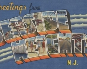 Greetings from Seaside Heights, New Jersey (Art Prints available in multiple sizes)