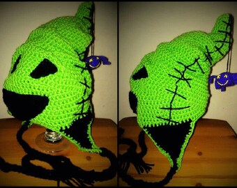 Crocheted Oogie Boogie the boogie man from The Nightmare Before Christmas