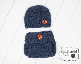 newborn crochet outfit, newborn boy crochet outfit, newborn outfit, newborn photo prop, newborn crochet diaper cover, newborn boy hat